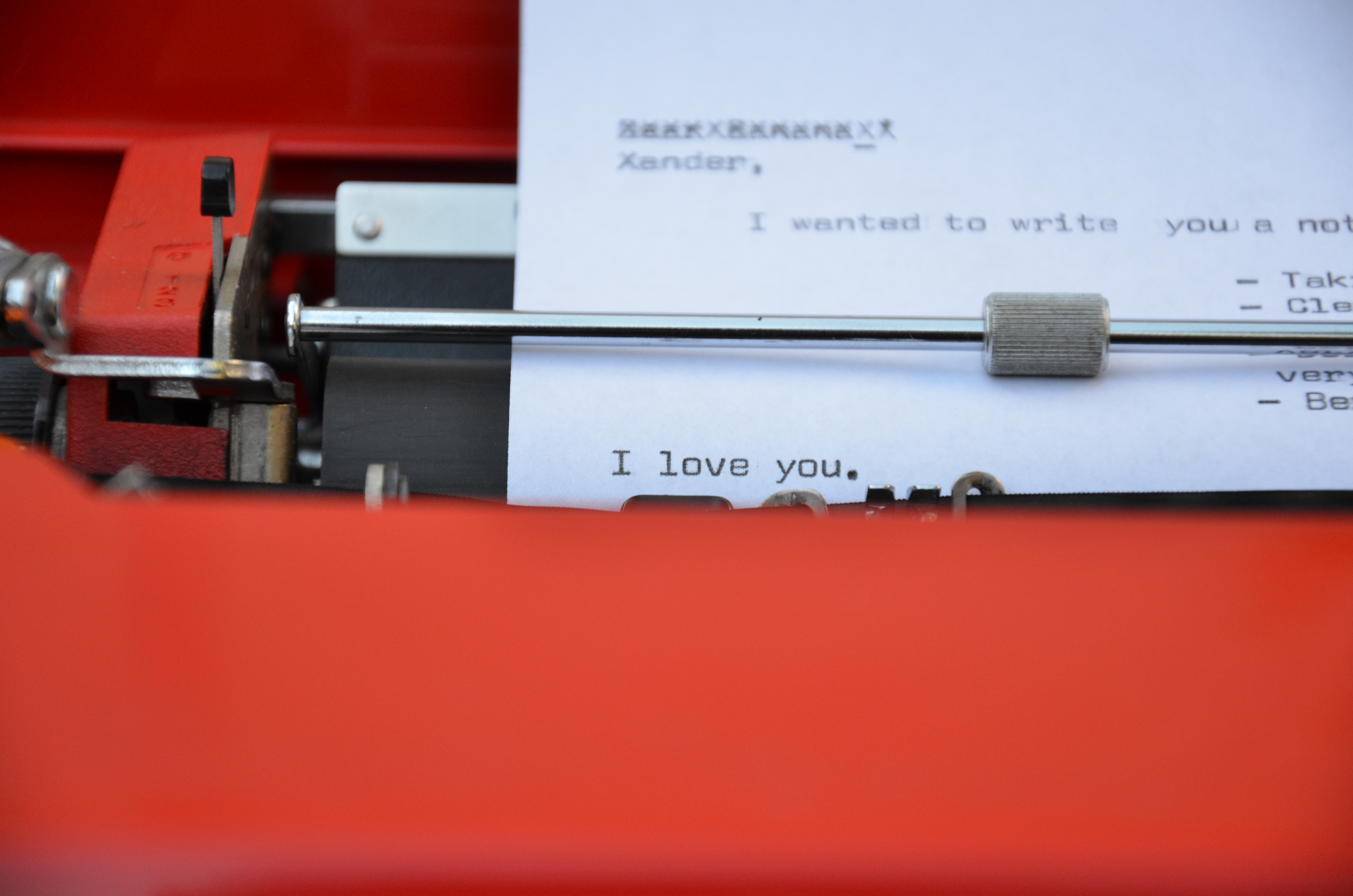 Just A Little Series Documenting The Unveiling Of My Gorgeous Brand New Olivetti  Valentine Typewriter, A Christmas Gift From The Boy.
